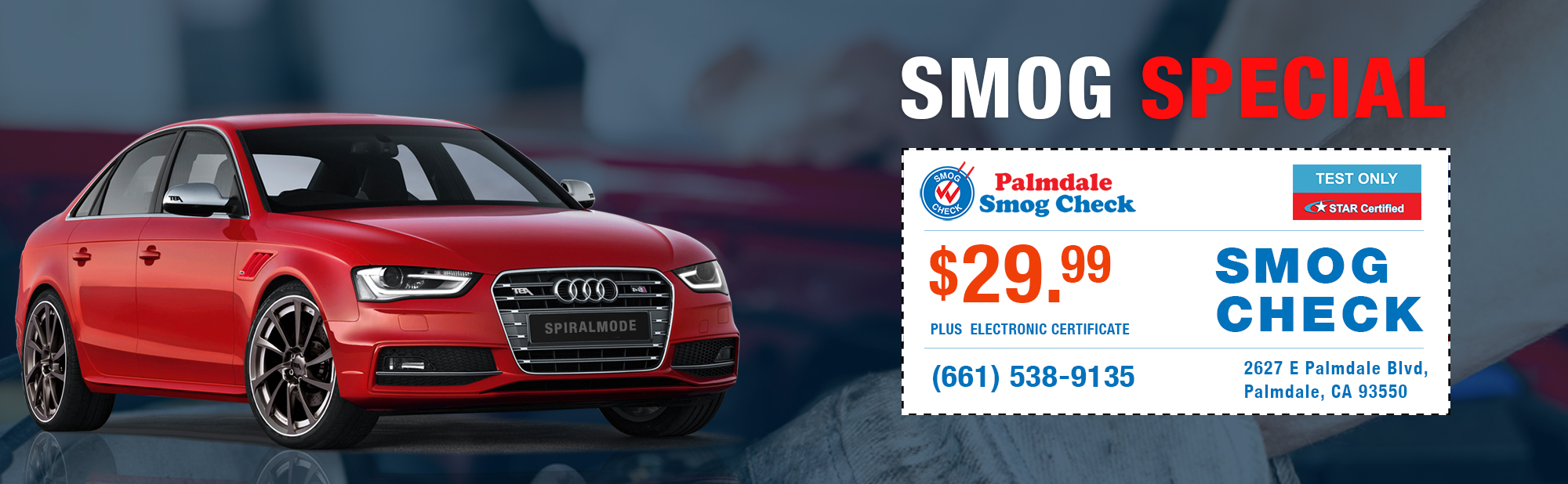 Smog Check Coupon Palmdale